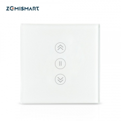 Zemismart New Design EU WiFi Curtain Switch Electric Smart Blind Switches TUYA Alexa Google Home Voice Control