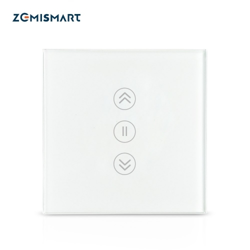 Zemismart Energy Saving EU WiFi Curtain Switch Electric Smart Blind Switches TUYA Alexa Google Home Voice Control Backlit optional