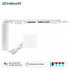 Motorized Smart Curtain Alexa Google Home Tuya APP Control Customized WiFi Curtain Motor With Track