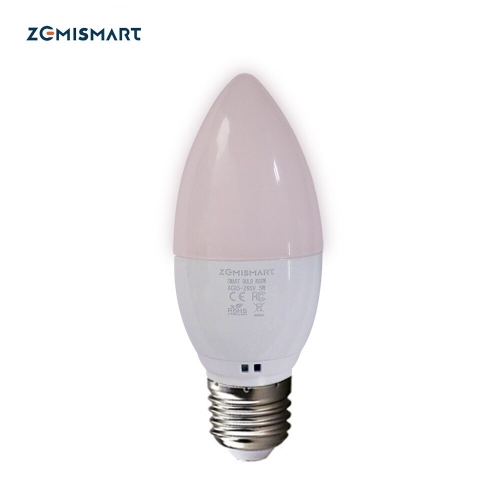 Dimmable E27 WiFi RGB Led Bulb Candle Light Voice Control by Alexa Echo Google Home 2.4G WiFi Control by TUYA APP
