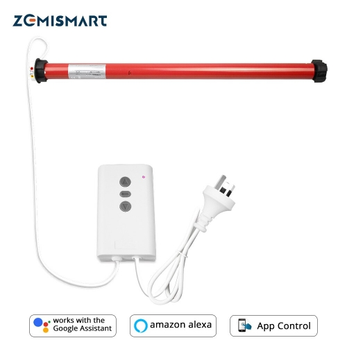Zemismart Electric WiFi Smart Roller Shade Motor Tuya Alexa Google Home Motorized Curtain Switch