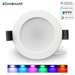 Zemismart 2.5 inch WiFi RGBW Led Downlight 7w Voice Control Alexa Echo Dot Spot Show Google Home Assistant IFTTT Home Automation