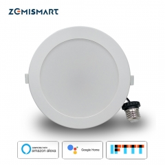 Zemismart US 6 inch WiFi RGB Led Downlight Alexa Google Recessed Lamp Smart Life APP Control Ceiling Light
