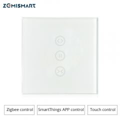Zemismart Zigbee EU Curtain Wall Switch Compatible with SmartThing for Roller Shade Blind Switches