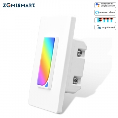 WiFi Wall Light Switch with Microwave Sensor Light Smart Life APP Alexa Google Home Voice control Smart US Push Switches