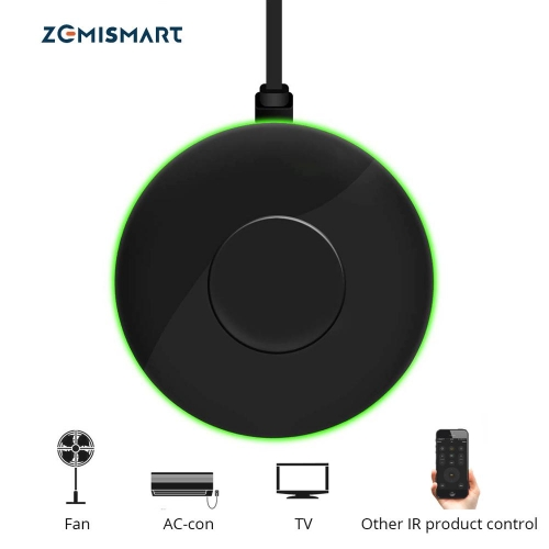 Zemismart IR Bridge Control Air-condition Fan TV For Smart Life App Google Home Alexa Echo Universal Remote Control