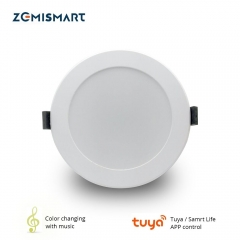 Zemismart 4 inch WiFi RGBCW Color Changing With Music for Home Party Led Downlight Ceiling Light Alexa Google Home Enable IFTTT