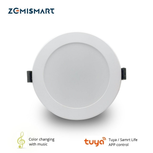 Zemismart 4 inch WiFi RGBCW Color Changing With Music for Home Party Led Downlight Ceiling Light Alexa Google Home Enable