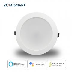 Zemismart 6 inch WiFi RGBCW Color Changing With Music for Home Party Led Downlight Ceiling Light Alexa Google Home Enable IFTTT
