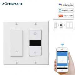 Smart Home Wall Light Switch Dimmer Switches 2 gangs Compatible with Alexa Google Assistant and IFTTT WiFi Tuya Control