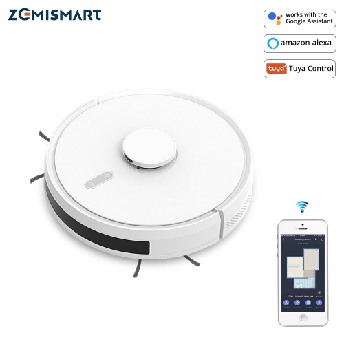 WiFi Tuya Robotic Vacuum Laser Sweeping Robort  Smart Sweeping Machine Timer Remote Alexa Voice control