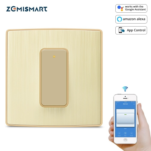 Zemismart WiFi Physical Switch Tuya Smart Push Button Switch Alexa Google Home Enable 2019 New Design