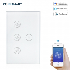 Zemismart Tuya Fan light Switch Enable Google Home Alexa Homeassistant