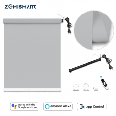 Zemismart Roller Shade Blackout Blind With Motor Smart Home Control by Tuya APP Work with Google home Alexa