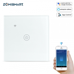 Zemismart Tuya WiFi Light Switch One Gang No Neutral Wire Required Alexa Google Home Control