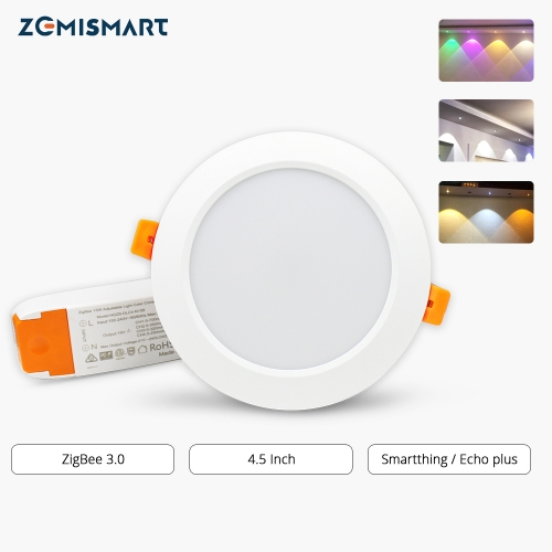 ZigBee 3.0 4 Inch Downlight  Smart RGBW Led Bulb Light Work with Amazon Echo Plus Directly 15w Smart Lighting Solution