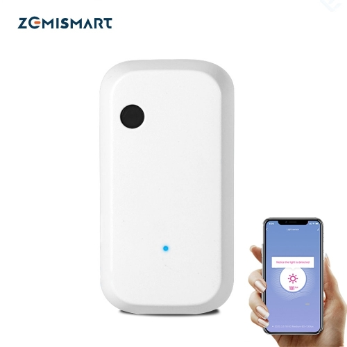 Zemismart Tuya WiFi Light Sensor Smart Life App Illumination Sensor Control Alexa Google Home Allow