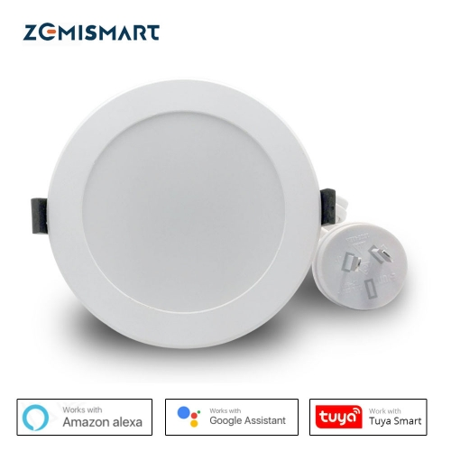 Zemismart AU Type 3.5 inch WiFi RGBW Led Downlight 10w Voice Control by Alexa Echo Google Home Assistant Home Automation