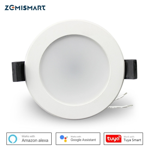 Zemismart 2.5 inch WiFi RGBCW Led Downlight 7w Voice Control Alexa Echo Dot Spot Show Google Home Assistant  Home Automation