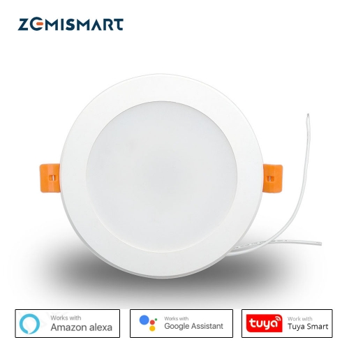 Zemismart 4 inch WiFi RGBW Led Downlight 10w Voice Control by Alexa Echo Dot Spot Show Google Home Assistant Home Automation