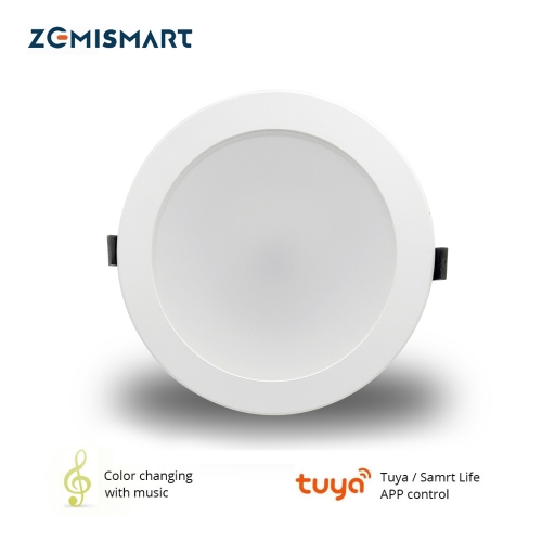 Zemismart US 4 inch WiFi RGBW Led Downlight Alexa Google Recessed Lamp Smart Life APP Control Ceiling Light