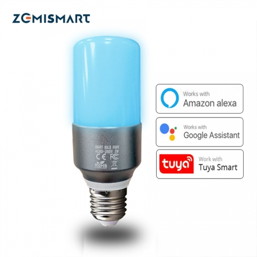 Candlelight Wifi Bulb RGBW LED Candle Light Work with Alexa Echo Google Home Assistance  Voice E27 Timer Control Lamp