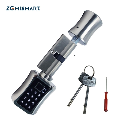 Zemismart Tuya Door Lock Fingerprint Password Key Physical Unlock BLE Smart Life App Control Keyless Electronic Smart Lock