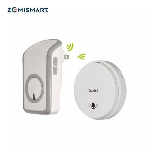 UK Battery-Free Self-Powered Wireless Remote Control Doorbell with Over 48 Chimes, No Batteries Required for Transmitter
