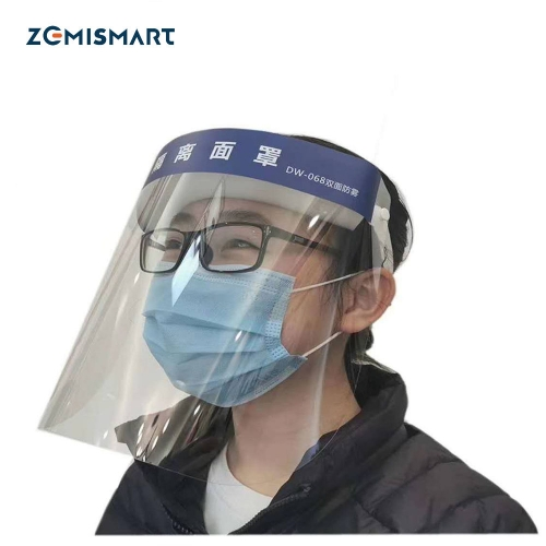 CE FDA Mask Face Sheild with Glasses Frame for Anti-Fog Anti-Saliva Droplets  Anti-splash protection Mask and virus Transparent Full Face