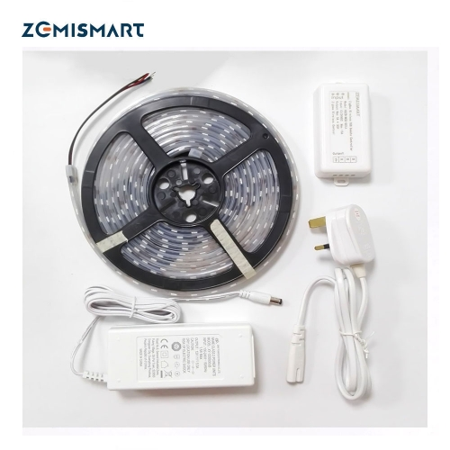 Zigbee ZLL 5M RGB 12V Low Voltage LED Strip With Driver control by echo plus directly