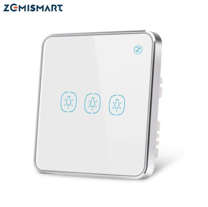 Zemismart Tuya Zigbee Light Switch with Aluminum Frame Glass Touch Switch Alexa Echo Google Home Assistant Control