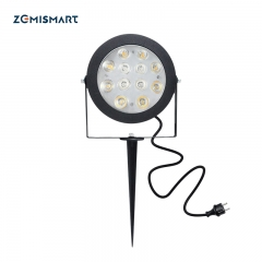 Zemismart Smart Zigbee 12W RGBCCT Garden lamp landscape path light outdoor dimmable compatible with zigbee hub app voice control