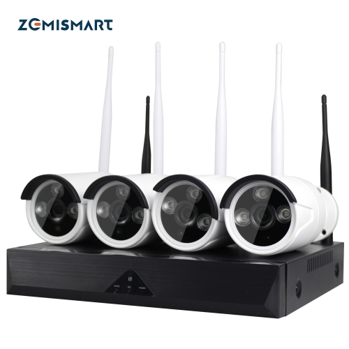 Zemismart 4 Pieces HD Tuya WiFi Security CCTV Outdoor Waterproof Camera Waterproof Night Vision 1080P Hard Disk Smart life