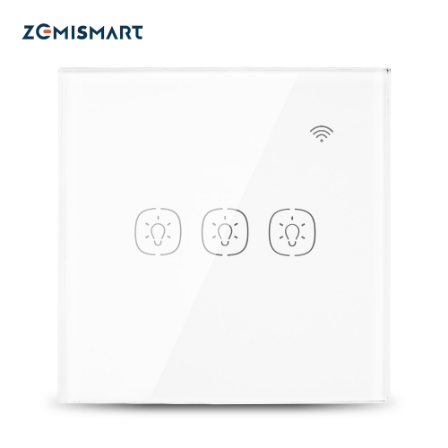 EU 1 Gang 2 Gang 3 Gang Wifi Wall Switch Work with Alexa Smart Home Remote Control Light Panel Control via APP Voice Control