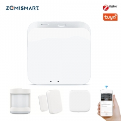 Zemismart Tuya Zigbee 3.0 Wireless Hub Gaterway Smart Life Bridge Remote Control Door Sensor Motion Sensor Temperture