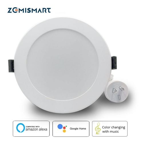 Zemismart AU plug 3.5 Inch Zigbee 3.0 RGBCW Led Downlight Colorful Ceiling Light Alexa Google Home Enable SmartThings Control