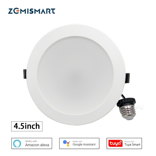 Zemismart US 4 inch 10W WiFi RGBW Led Downlight Alexa Google Recessed Lamp Smart Life APP Control Ceiling Light