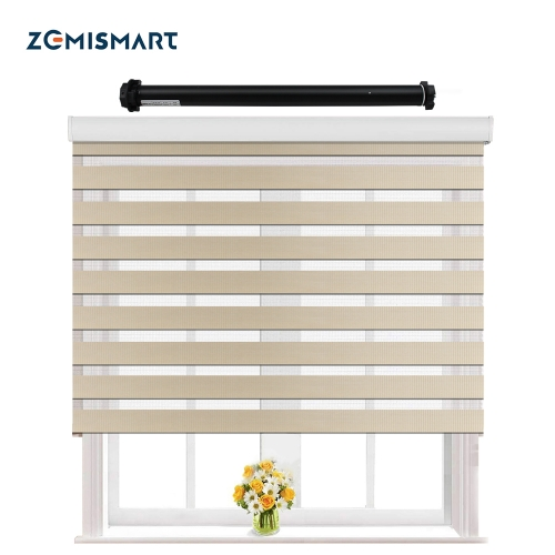Zemismart Electric Zebra Blinds Smart Shutters shades Tuya Smart Life Zebra Alexa Googl Home Control