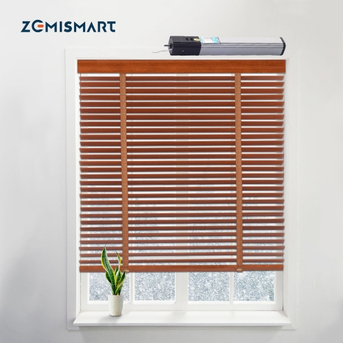 Zemismart Electric Aluminum Blind Smart Shutters shades Wooden Tuya Smart Life Alexa Googl Home Control