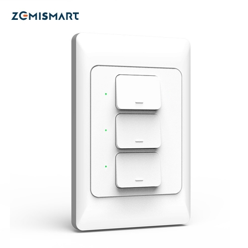 Zemismart New Design Zigbee 3.0 Wall Push Light Switch SmartThings Control US AU Physical Switches