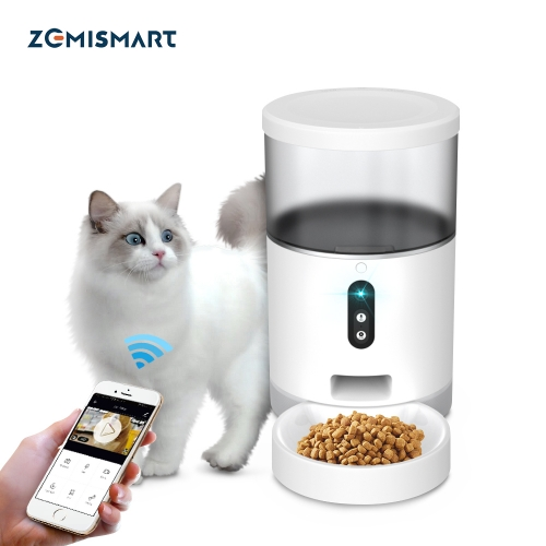 Zemismart Wifi Automatic Pet Feeder Smart Cat Dog Food Dispenser Remote Control APP Timer Supplier