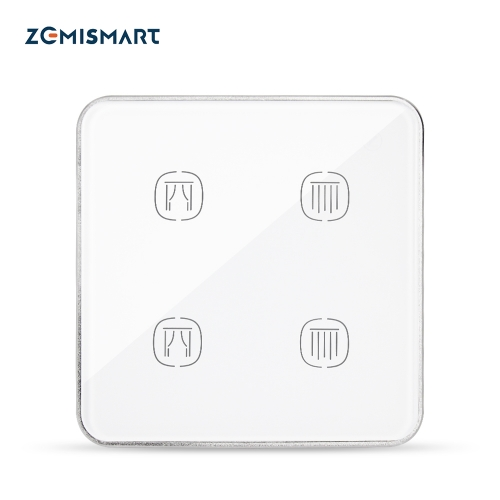 Tuya Zigbee  2 Channels Smart Curtain Switch Neutral Required Alexa Google Home Smartlife Control Intelligent Curtain Controller