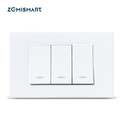 Zemismart TB21 Smart Zigbee Luxury Wall Light Switch 1 2 3 Gangs no neutral Compatible with Smart Life App SmartThings Alexa Google Home Voice Control