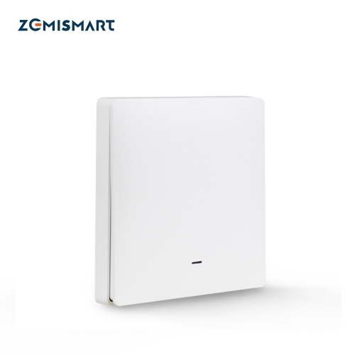 Zemismart Tuya Zigbee Wireless Switch Battery Wall Remote with Push Button Smart Life Alexa Google Home Control