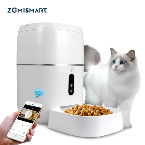 Zemismart 6L Tuya WiFi Smart Pet Feeder with HD Night Vision Video Food Dispenser Alexa Google Home Automatic Feeding Cat Dog