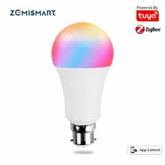 Zemismart Tuya Zigbee 3.0 Smart B22 LED Light Bulb 7W Dimmable RGBCW Decorative Lamp Alexa Google Home Smartthings App 650lm