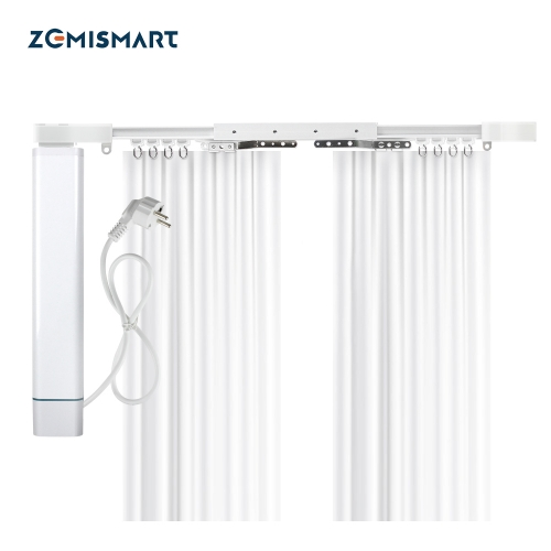 Zemismart New updated Electric WiFi Tuya Curtain,Built-in WiFi Receiver,Alexa Google Assistant Voice Control with Adjustable Track