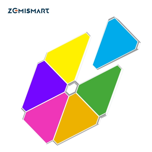 Zemismart Wifi Music Syncing Smart LED Light Panels Tuya APP Control SMart Life Alexa Google Home Control for Room/Party/Wall Lighting