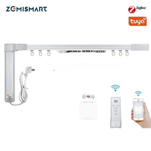 Zemismart Curtain Track Work with Tuya Zigbee Hub SmartThings hub Zigbee 3.0 Electric Smart Curtain