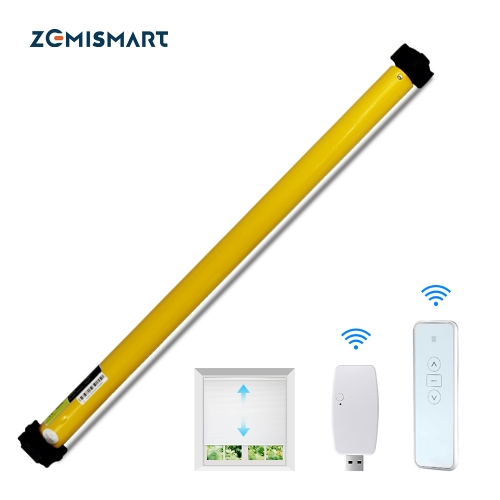Zemismart Wifi Rechargable Roller Blind Motor With Adapter For 36mm 37mm 38mm Tube App control Alexa Voice App Control